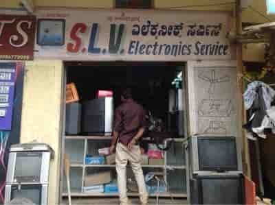 tv repair shop. inside view of electronic goods repair shop - slv electronics photos, marathahalli, tv