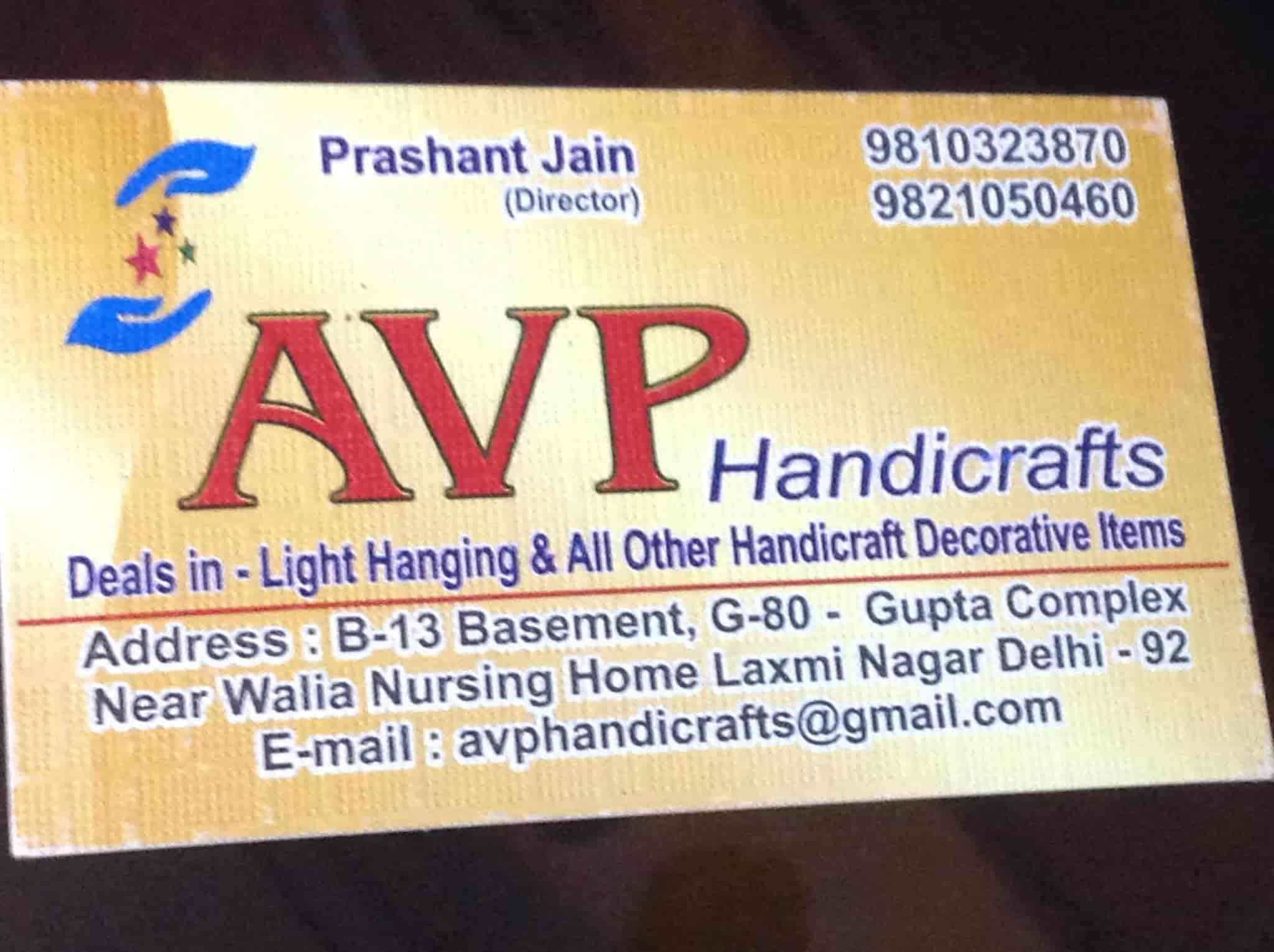 Avp Handicrafts Laxmi Nagar Handicraft Item Manufacturers In