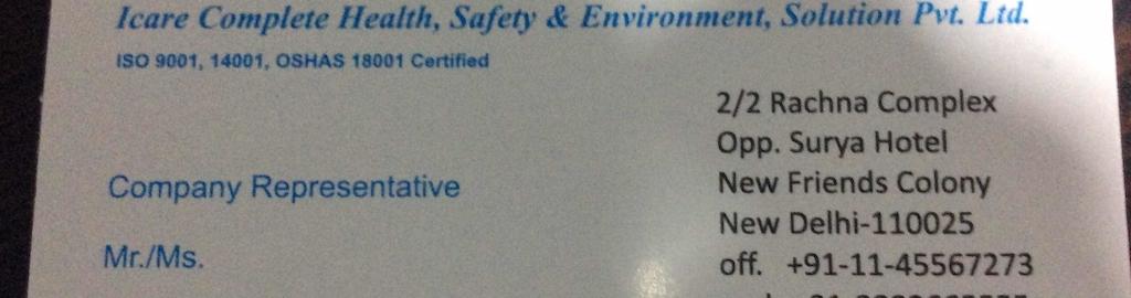 Icare Safety Solution Pvt Ltd