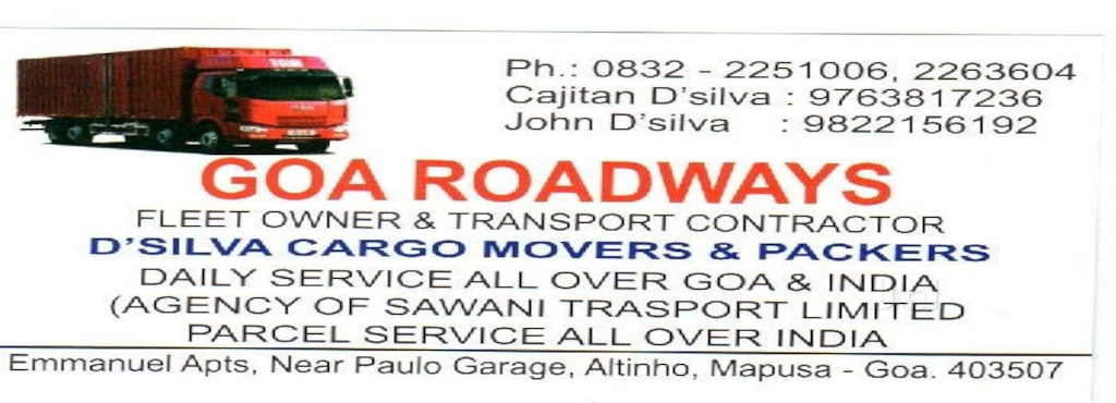 goa roadways mapusa transporters in goa justdial