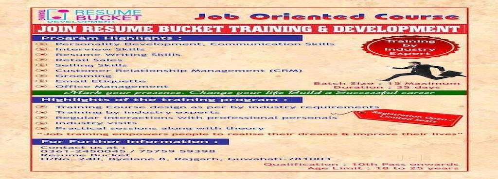resume bucket chandmari placement services candidate in