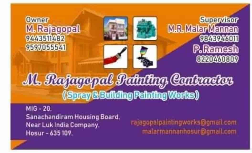 Top 30 Painting Contractors For Building in Mathigiri, Hosur