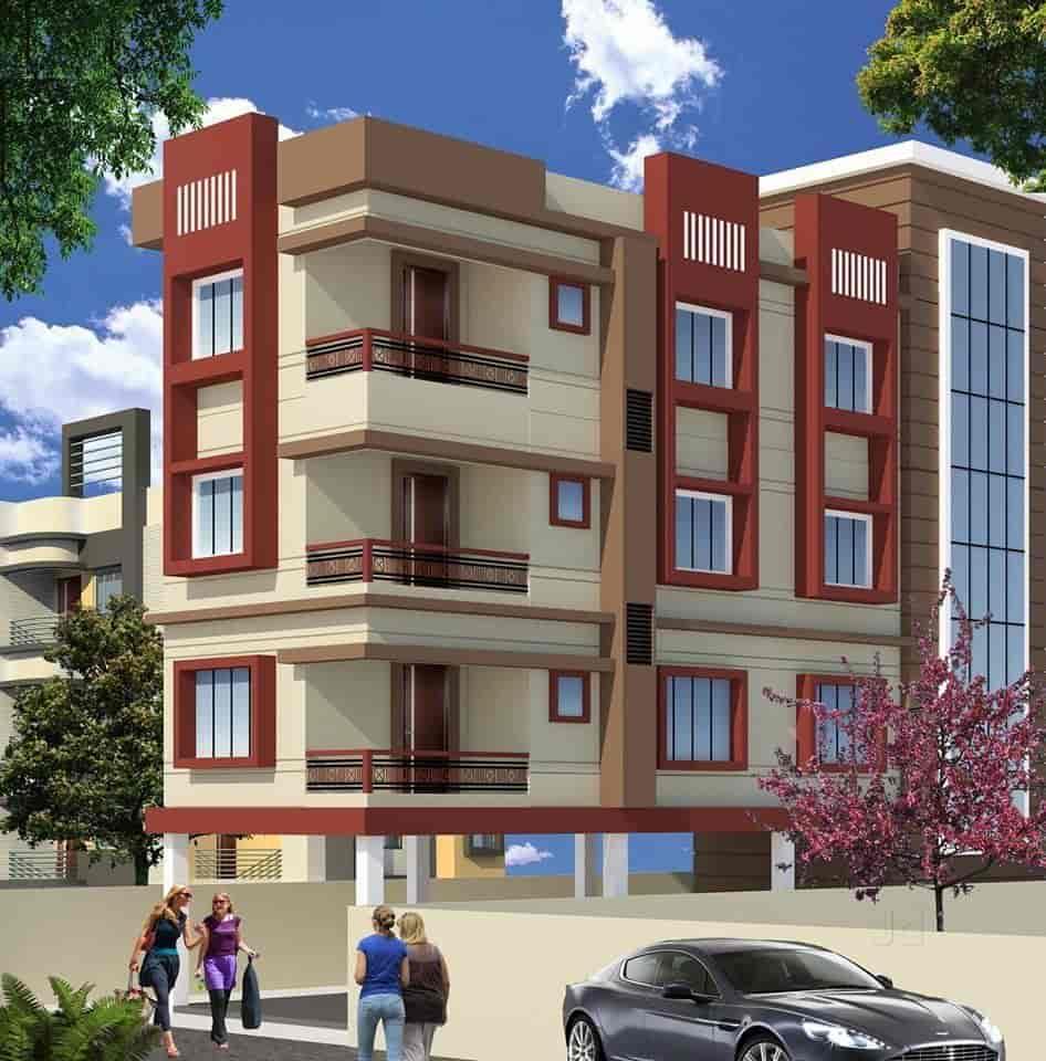 Building Elevation Designs Part - 37: 3D Building Elevation Design - 3d Buildings Elevation Designs And Plans  Photos, Suchitra Junction, ...