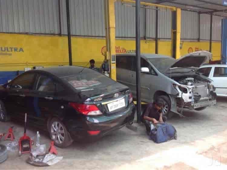 Car Servicing Garage Interior