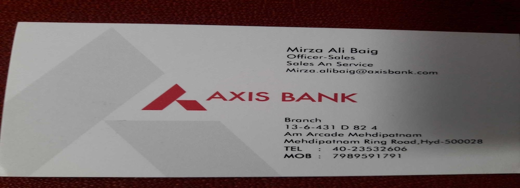Ramesh Axis Bank Counsultant Mehdipatnam Gst Registration