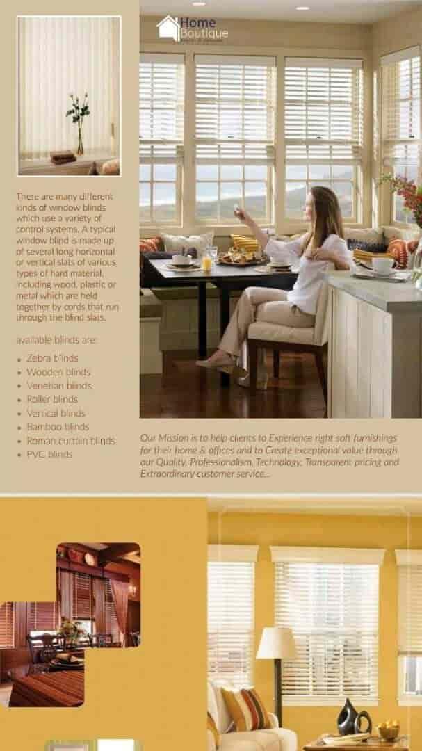 ... Brochure   Home Boutique Interior And Landscape Photos, , Kottayam    Curtain Dealers; Blinds ...