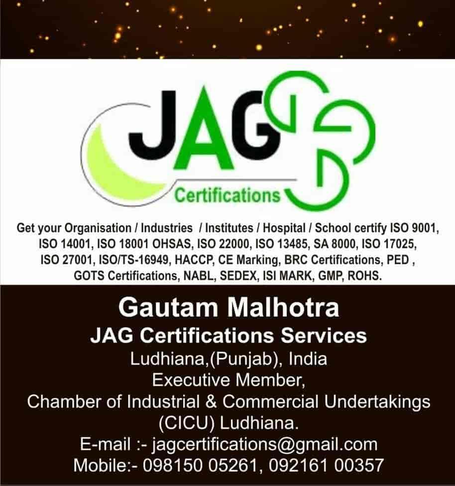 Jag Certifications Services Millerganj Iso Certification