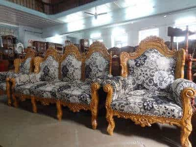 ... Sofa Set With Cushion   Oriental Wooden Carving Furniture Photos,  Sadashiv Peth, ...