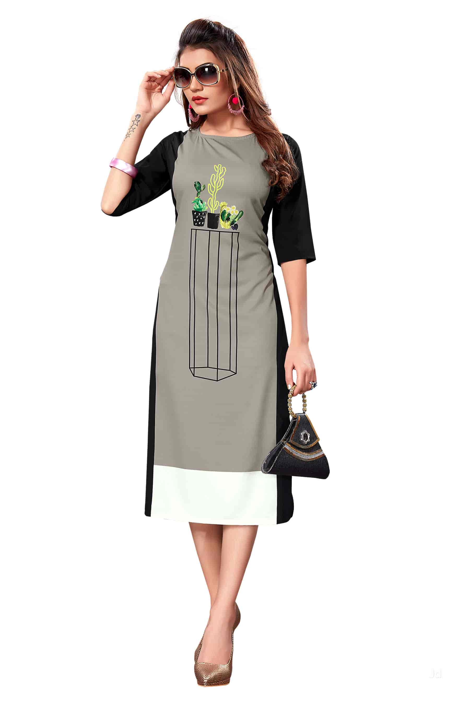 2ce106d18c Designer Ladies Kurti - Vragi Kurtis Photos, Ring Road, Surat - Women Kurti  Manufacturers ...