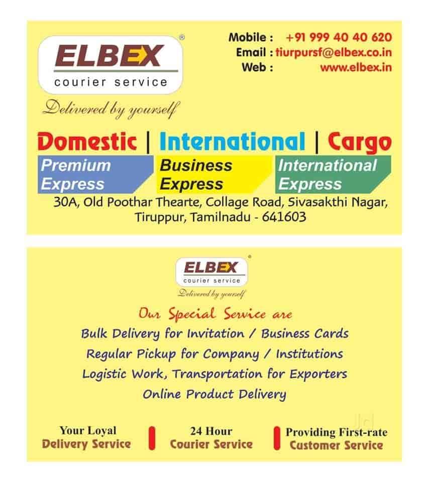 Elbex Couriers Pvt Ltd Photos, Court Street, Tirupur- Pictures ...
