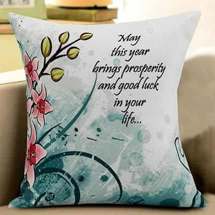 new year wishes cushion